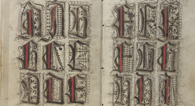 Scribal pattern book