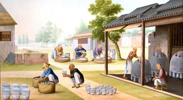 19世纪水粉画中国贸易