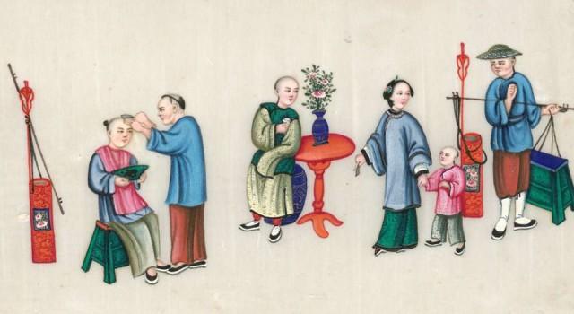 19世纪广州的通草纸画