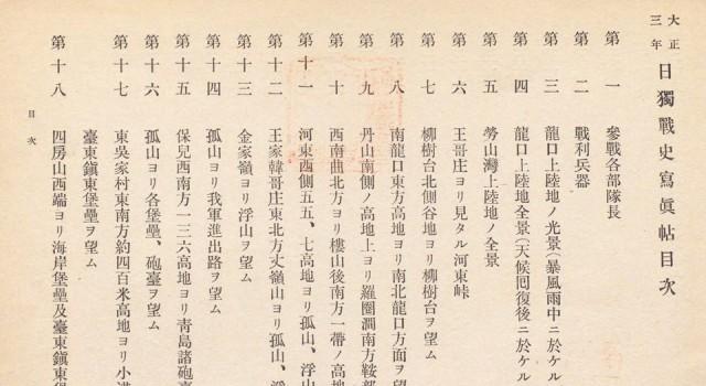 日独战史写真帖