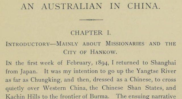 一个澳大利亚人在中国