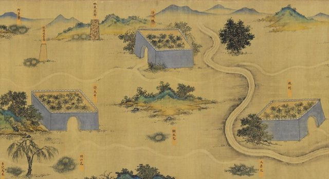 蒙古山水地图