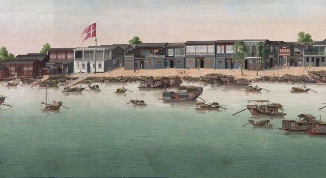 广州城珠江滩景图